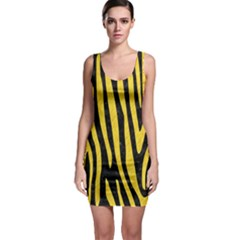 Skin4 Black Marble & Yellow Colored Pencil Bodycon Dress