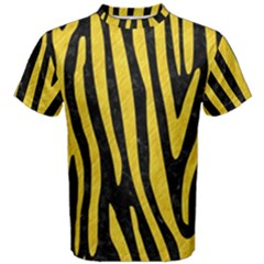 Skin4 Black Marble & Yellow Colored Pencil Men s Cotton Tee