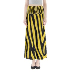 Skin4 Black Marble & Yellow Colored Pencil Full Length Maxi Skirt