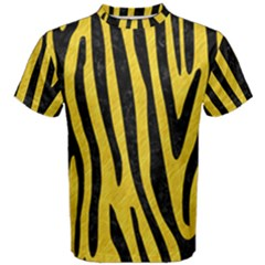 Skin4 Black Marble & Yellow Colored Pencil (r) Men s Cotton Tee