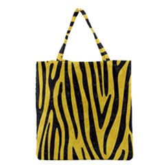 Skin4 Black Marble & Yellow Colored Pencil (r) Grocery Tote Bag