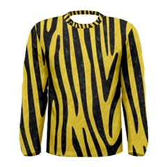 Skin4 Black Marble & Yellow Colored Pencil (r) Men s Long Sleeve Tee