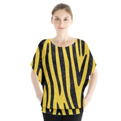 Skin4 Black Marble & Yellow Colored Pencil (r) Blouse