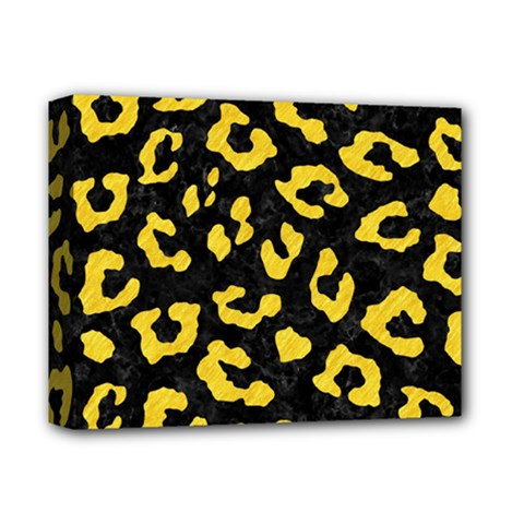 Skin5 Black Marble & Yellow Colored Pencil Deluxe Canvas 14  X 11