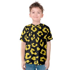 Skin5 Black Marble & Yellow Colored Pencil Kids  Cotton Tee