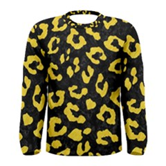 Skin5 Black Marble & Yellow Colored Pencil Men s Long Sleeve Tee