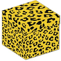 Skin5 Black Marble & Yellow Colored Pencil (r) Storage Stool 12