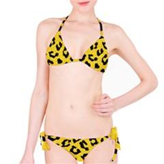Skin5 Black Marble & Yellow Colored Pencil (r) Bikini Set