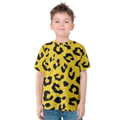 Skin5 Black Marble & Yellow Colored Pencil (r) Kids  Cotton Tee