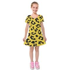 Skin5 Black Marble & Yellow Colored Pencil (r) Kids  Short Sleeve Velvet Dress