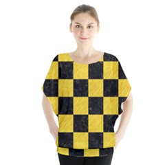 Square1 Black Marble & Yellow Colored Pencil Blouse