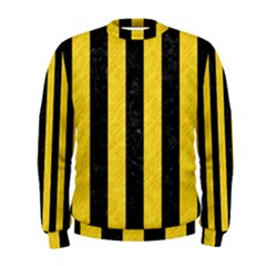 Stripes1 Black Marble & Yellow Colored Pencil Men s Sweatshirt