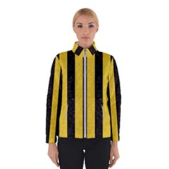 Stripes1 Black Marble & Yellow Colored Pencil Winterwear
