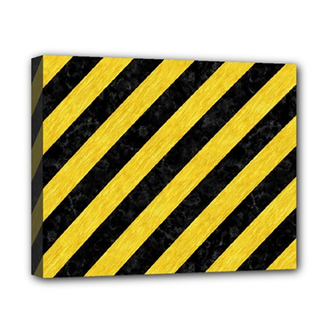 Stripes3 Black Marble & Yellow Colored Pencil (r) Canvas 10  X 8