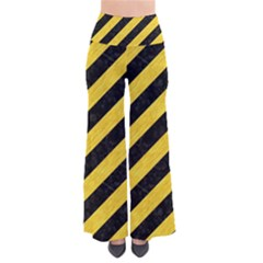 Stripes3 Black Marble & Yellow Colored Pencil (r) Pants