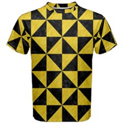 Triangle1 Black Marble & Yellow Colored Pencil Men s Cotton Tee