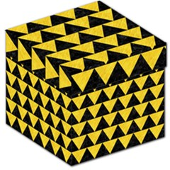 Triangle2 Black Marble & Yellow Colored Pencil Storage Stool 12