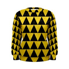 Triangle2 Black Marble & Yellow Colored Pencil Women s Sweatshirt
