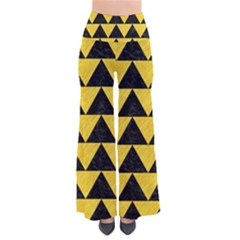 Triangle2 Black Marble & Yellow Colored Pencil Pants