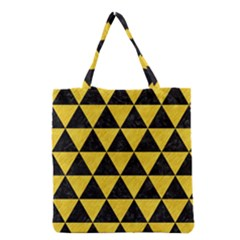 Triangle3 Black Marble & Yellow Colored Pencil Grocery Tote Bag
