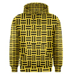 Woven1 Black Marble & Yellow Colored Pencil Men s Pullover Hoodie