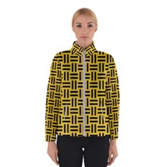 Woven1 Black Marble & Yellow Colored Pencil Winterwear