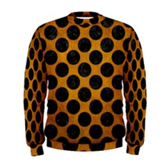 Circles2 Black Marble & Yellow Grunge Men s Sweatshirt