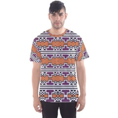 Purple And Brown Shapes                                  Men s Sport Mesh Tee