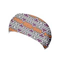 Purple And Brown Shapes                                  Yoga Headband