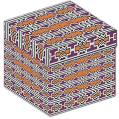 Purple And Brown Shapes                                  Storage Stool