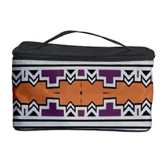 Purple And Brown Shapes                                  Cosmetic Storage Case
