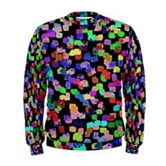 Colorful Paint Strokes On A Black Background                                 Men s Sweatshirt