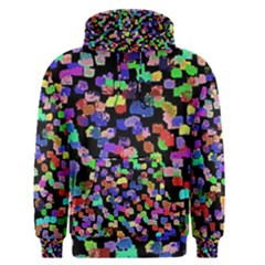 Colorful Paint Strokes On A Black Background                                Men s Pullover Hoodie