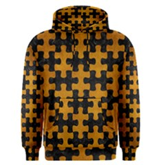 Puzzle1 Black Marble & Yellow Grunge Men s Pullover Hoodie