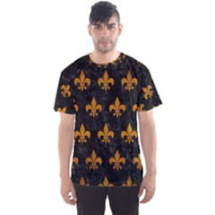 Royal1 Black Marble & Yellow Grunge Men s Sports Mesh Tee