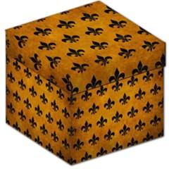 Royal1 Black Marble & Yellow Grunge (r) Storage Stool 12