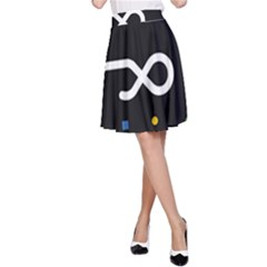Line Circle Triangle Polka Sign A Line Skirt