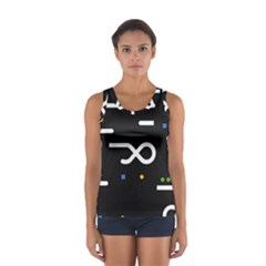 Line Circle Triangle Polka Sign Sport Tank Top
