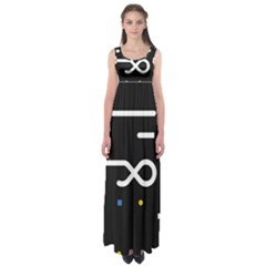 Line Circle Triangle Polka Sign Empire Waist Maxi Dress