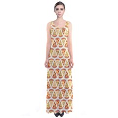 Food Pizza Bread Pasta Triangle Sleeveless Maxi Dress