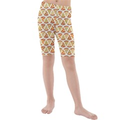Food Pizza Bread Pasta Triangle Kids  Mid Length Swim Shorts