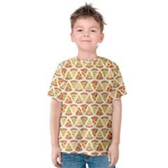 Food Pizza Bread Pasta Triangle Kids  Cotton Tee