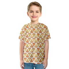 Food Pizza Bread Pasta Triangle Kids  Sport Mesh Tee