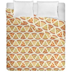 Food Pizza Bread Pasta Triangle Duvet Cover Double Side (california King Size)