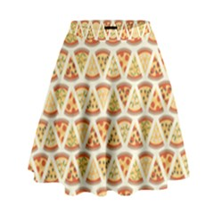 Food Pizza Bread Pasta Triangle High Waist Skirt