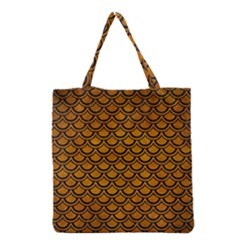Scales2 Black Marble & Yellow Grunge Grocery Tote Bag