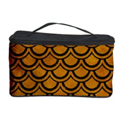 Scales2 Black Marble & Yellow Grunge Cosmetic Storage Case