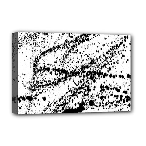 Ink Splatter Texture Deluxe Canvas 18  X 12