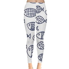 Love Fish Seaworld Swim Blue Sea Water Cartoons Leggings