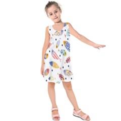 Love Fish Seaworld Swim Blue White Sea Water Cartoons Rainbow Kids  Sleeveless Dress